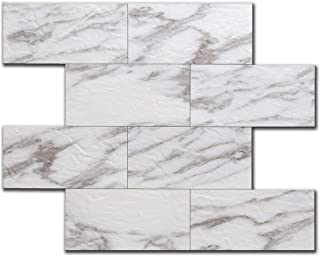 ARTESANIA MURO Peel and Stick Emboss Wall Tiles Bricks/DIY Kitchen Bathroom Backsplash/Fire Proof/Water Proof/Anti-Mold/ 12