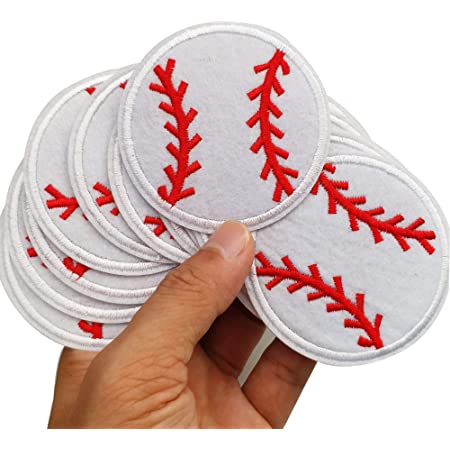 XUNHUI Baseball Embroidered Patch for Clothing Iron on Sew Applique Fabric Patch Clothes Badge Garment DIY Apparel Accessories