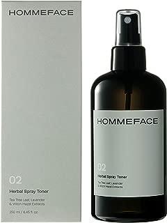 HOMMEFACE Herbal Spray Face Toner for Men, Alcohol-Free