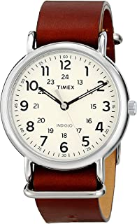 Men's Weekender Strap Leather 40mm Watch