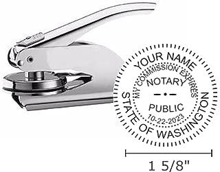 Washington Notary Seal Embosser, Pocket/Hand Model, 1-5/8