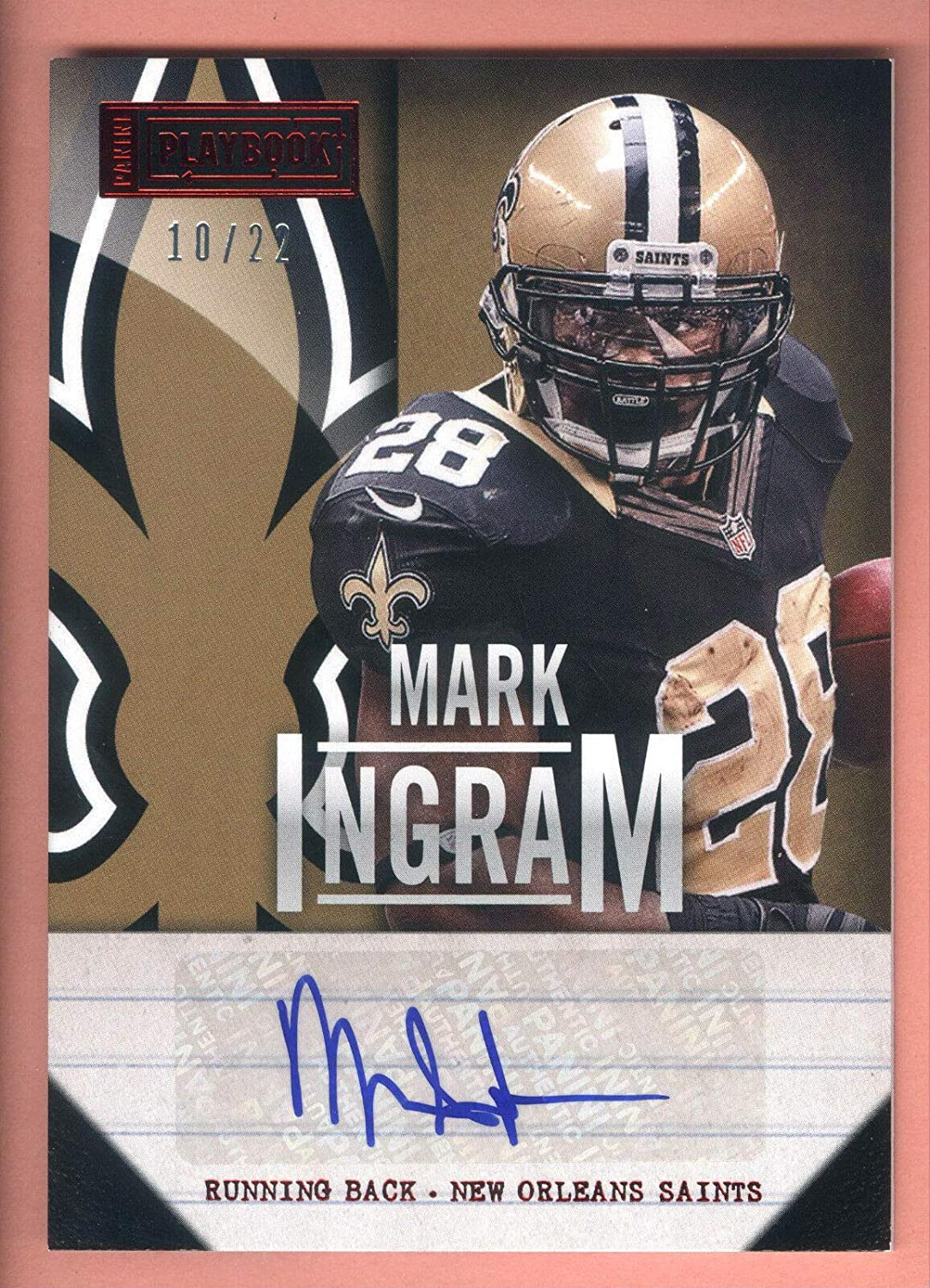 2013 Panini Save money Playbook #83 Mark Card Ingram In a popularity 22 Autograph #10