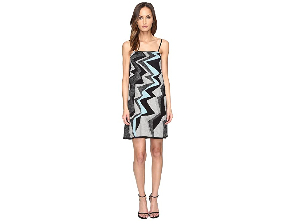 M Missoni Lurex Lightning Intarsia Dress (Ice) Women