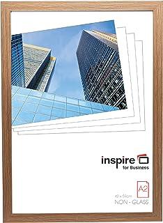 Hampton Frames SORBONNE Calidad marrón Efecto Madera a2 42x59cm Certificado Foto póster Marco en Efecto Madera con Vidrio plexi. SORA2NG