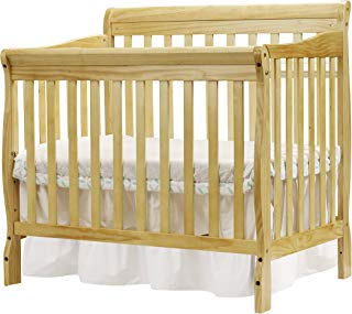 Big Oshi Kayla 4-in-1 Convertible Crib – Modern, Unisex Wood Design for Boys or Girls – Adjustable Height, Low or High - Convertible to Crib, Day Bed, and Twin Bed with or Without Footboard, Natural