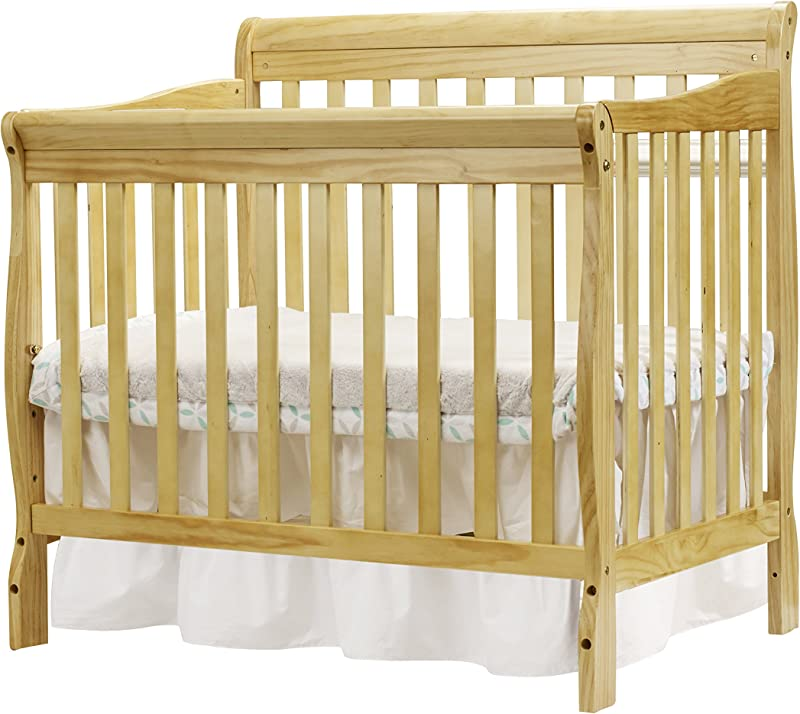 Big Oshi Kayla 4 In 1 Convertible Crib Modern Unisex Wood Design For Boys Or Girls Adjustable Height Low Or High Convertible To Crib Day Bed And Twin Bed With Or Without Footboard Natural