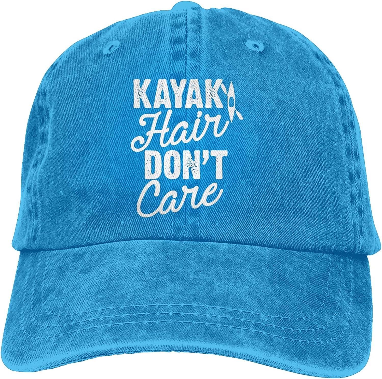 Kay-ak Hair Don't Care Hat,Adjustable Baseball Cap Unisex Washable Cotton Trucker Cap Dad Hat