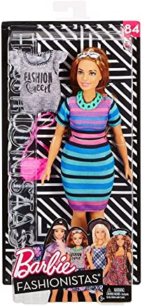Barbie Fashionistas Fashion Pink /& White Dress Shoes Necklace Loose Outfit New