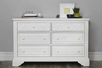 Baby Cache Haven Hill 6 Drawer Double Dresse, White Lace