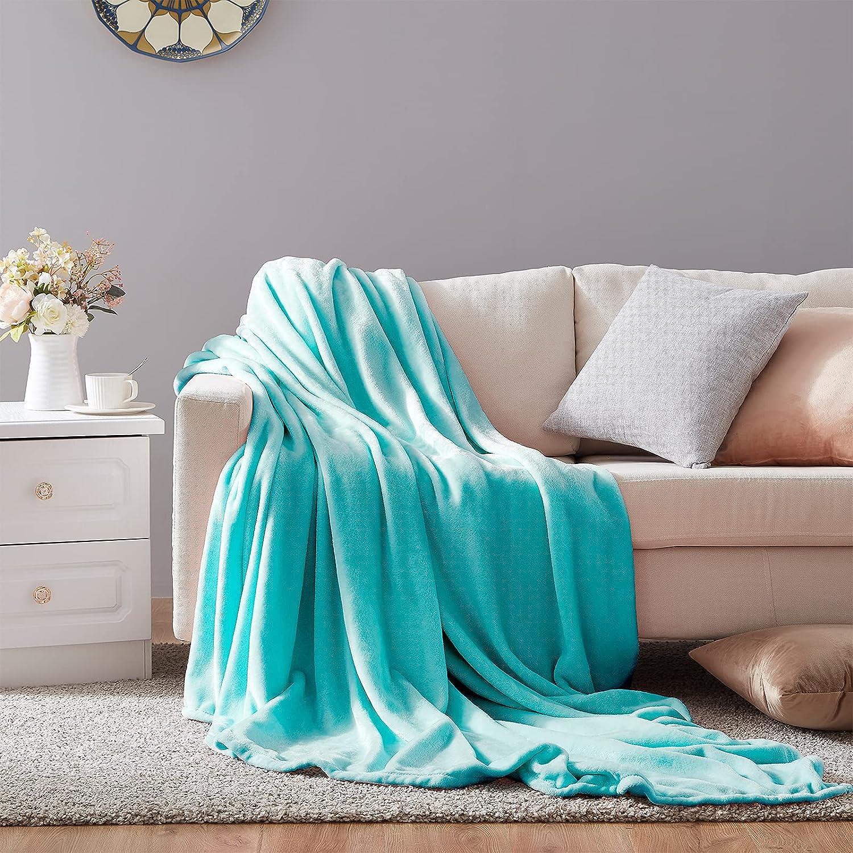Hboemde Soft Summer Blanket Throw Size Fleece Travel Fuzzy Max Award 79% OFF Warm