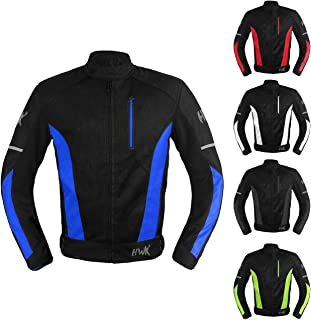 Mesh Motorcycle Jacket Textile Motorbike Summer Biker Air Jacket CE ARMOURED BREATHABLE (X-Large, Blue)