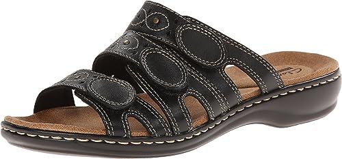 Clarks - Leisa Cacti Q Sandales de de de Femme, 38 EUR, noir Leather 9b7