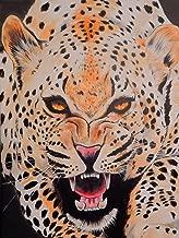 Buyartforless Prowl by Ed Capeau 32x24 Leoperd Art Painting Reproduction Canvas, Orange