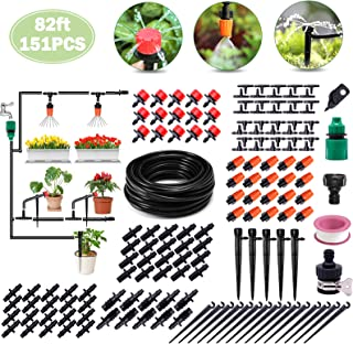 Irrigation System, 82ft Drip Irrigation Kit DIY Micro Automatic Watering System with 1/4 Inches Blank Distribution Tubing ...