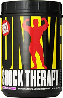 Universal Nutrition Shock Therapy Pre-Workout Pump & Energy Supplement, with BCAA complex, Creatine, and Electrolytes - Gr...