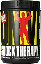 Universal Nutrition Shock Therapy Pre-Workout Pump & Energy Supplement, with BCAA complex, Creatine, and Electrolytes - Grape - 42 Servings