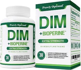 Premium DIM Supplement 250mg Plus BioPerine, (Diindolylmethane) Veggie Caps - Estrogen Balance, Menopause Relief, PCOS, Cy...