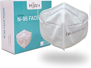 Mush N95 Face Mask : Soft, Reusable 6 layered face mask (Pack of 20). CE, ISO, FDA Certified and NABL, SITRA lab tested