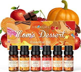 ASAKUKI Essential Oils Set with Gingerbread, Brown Sugar, Chocolate, Cherry, Apple and Pumpkin Pie Scents; Fall and Christ...
