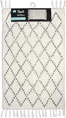 douceur d'interieur LATIKA Tapis DE Bain, Blanc, 50 x 80 CM