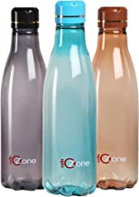 Cello Ozone Plastic Water Bottle, 1 Litre, Set of 3, Assorted