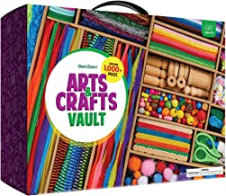 Arts and Crafts Vault - 1000+ Piece Craft Kit Library in a Box for Kids Ages 4 5 6 7 8 9 10 11 & 12 Year Old Girls & Boys ...