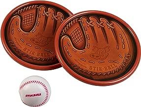 Hog Wild Stikball Toss and Catch - Sticky Baseball and 2 Catcher Mitt Targets - 2 Player - Ages 4+