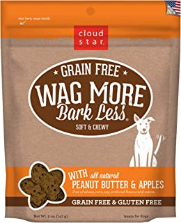 Cloud Star Wag More Bark Less Grain Free Soft & Chewy Dog Treats, Corn & Soy Free, Baked in USA