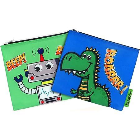Rolleat SnacknGo Kids Bolsa Merienda Porta Sandwich Ecol/ógica y Reutilizable sin BPA Piratas Rojo