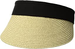 San Diego Hat Company - UBV044 Visor with Adjustable Canvas Band and Terry Cloth Interior Sweatband