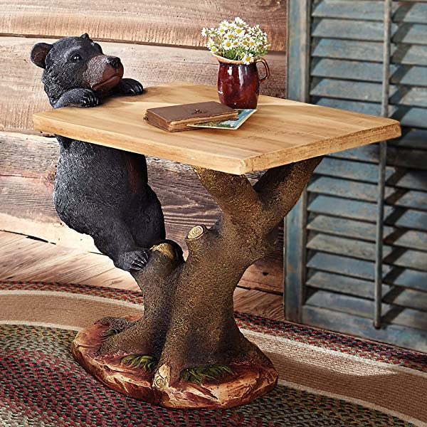 Black Bear Climbing Accent Table