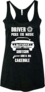 Winchester Brothers Driver Picks The Music Shotgun Shuts His Cakehole Women Tank Top - Black New