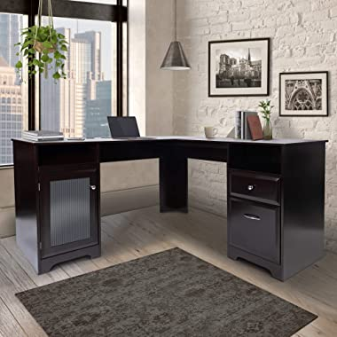 CHADIOR L Shaped Corner Computer Gaming Desk With Drawers Storage Modern Wood Study Workstation Table for Small Space Home Of