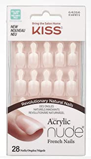 Kiss Products 28 Kiss Acrylic Nude French Nails, 0.2 Pound