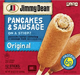 JIMMY DEAN PANCAKES & SAUSAGE ON A STICK ORIGINAL 30 OZ PACK OF 2