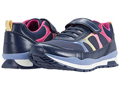 Geox Kids Pavel 9 (Little Kid/Big Kid) (Navy/Multicolor) Girl