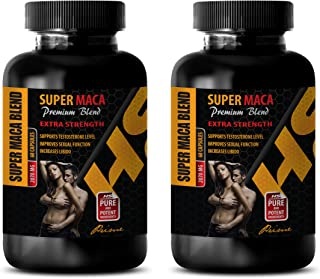 Male Enhancing Pills Last Longer in Bed - Super MACA Premium Blend - Extra Strength - Horny Goat Weed Extract Supplement - 2 Bottles 120 Capsules