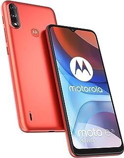 Motorola E7i Power Dual SIM 32GB ROM + ذاكرة وصول عشوائي 2GB (GSM فقط   بدون CDMA) Factory Unlocked 4G/LTE الذكي (أحمر مرج...