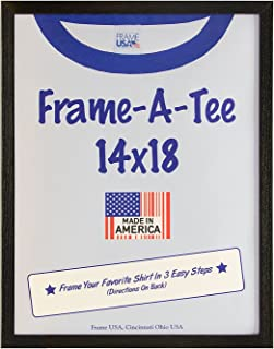 Frame America Wm29302 T-Shirt Frame with Standard Plexi Glass for Max Protection - Best Gift Idea (14x18, Black,