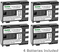 Kastar Battery (4-Pack) for Canon NB-2L NB-2LH NB-2L12 NB-2L14 NB-2L24 and PowerShot G7 G9 S30 S40 S45 S50 S60 S70 S80 DC410 DC420 VIXIA HF R10 HF R100 HF R11 EOS 350D 400D Digital Rebel XT Xti