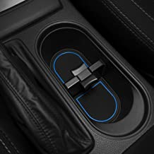 Custom Fit Cup, Door, and Console Liner Acessories for Subaru Forester 2014 2015 2016 2017 2018 (Blue Trim)