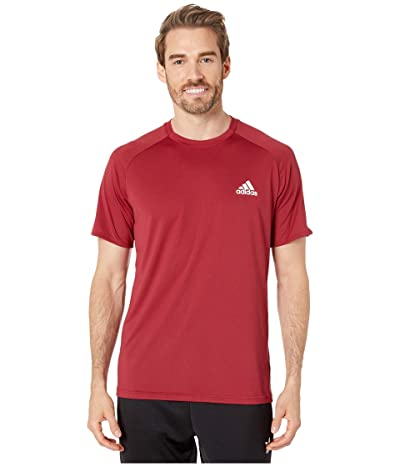 adidas Club Colorblock Tee (Collegiate Burgundy) Men