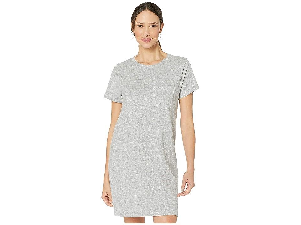 PACT T-Shirt Pocket Dress (Heather Grey) Women
