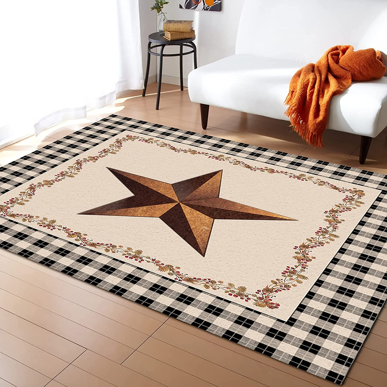 IDOWMAT Soft Area Rug Non-Slip Bedroom Decor Home Sale Floor for Indianapolis Mall