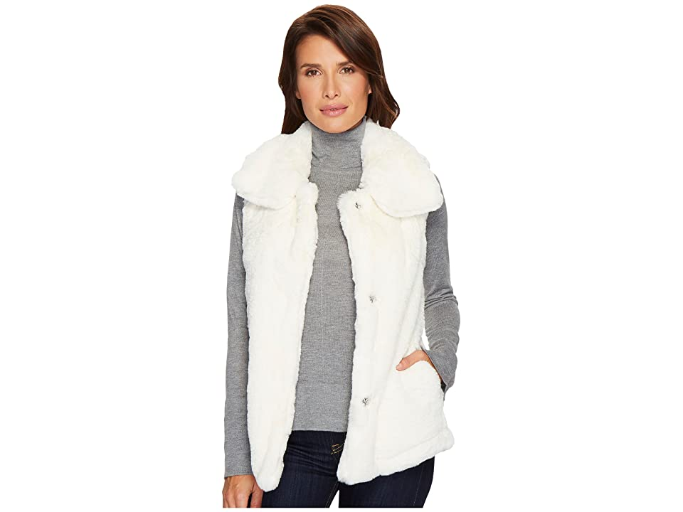 Dylan by True Grit Minky Plush Vest (Winter White) Women