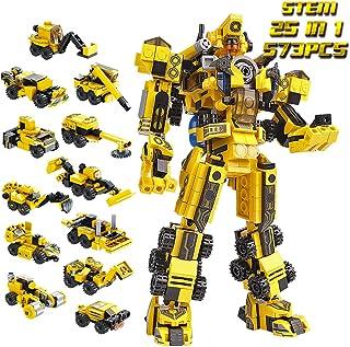 اسباب بازی های ساختمانی اسباب بازی های بنیادی اسباب بازی های ربات مجموعه اسباب بازی های ساختمانی مناسب برای پسران 6 ساله یا بالاتر سازگار با مارک های بزرگ بین المللی 573PCS با دستورالعمل های مونتاژ