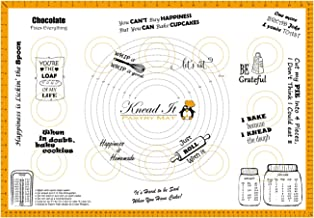 """Knead It Silicone Pastry Baking Mat Extra Large 18""""x26"""" with Measurements for Rolling Dough, Fondant, Sheet Board Cloth, N..."""