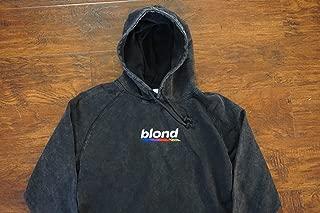 Blond Hoodie Embroidered Vintage Black Wash Pullover Hoodie Frank Ocean Blonde