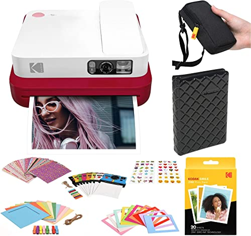 discount KODAK Smile outlet online sale Classic Digital Instant Camera with Bluetooth wholesale (Red) Photo Frames Kit outlet sale