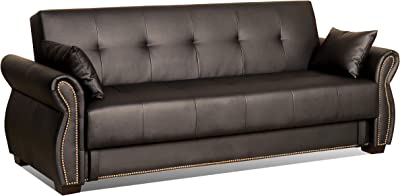 Excellent Amazon Com Homelegance Convertible Tufted Sofa Bed With Arm Frankydiablos Diy Chair Ideas Frankydiabloscom